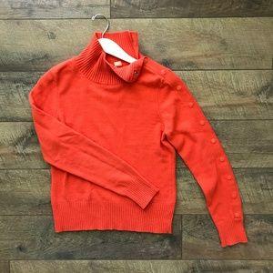 Anthropologie Moth Orange Turtleneck Sweater